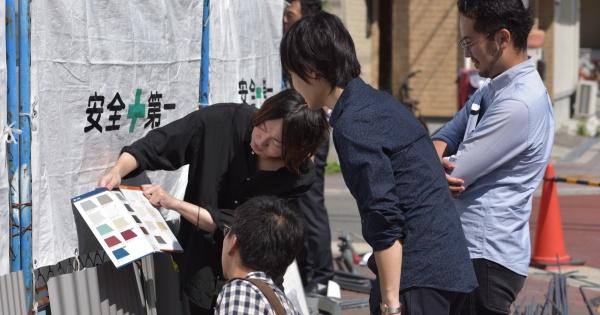 シェアハウスZEZE大阪の外壁チェック