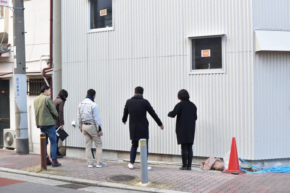 新築シェアハウスZEZE大阪の外構