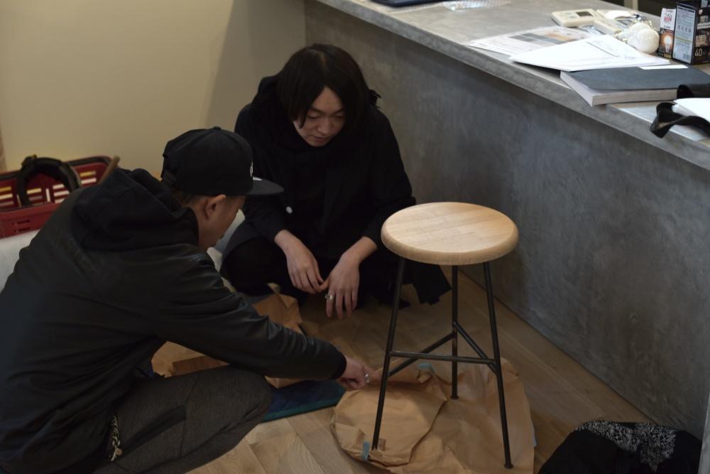 シェアハウスZEZE大阪のスツール