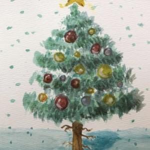 シェアハウスに飾られたクリスマスツリー