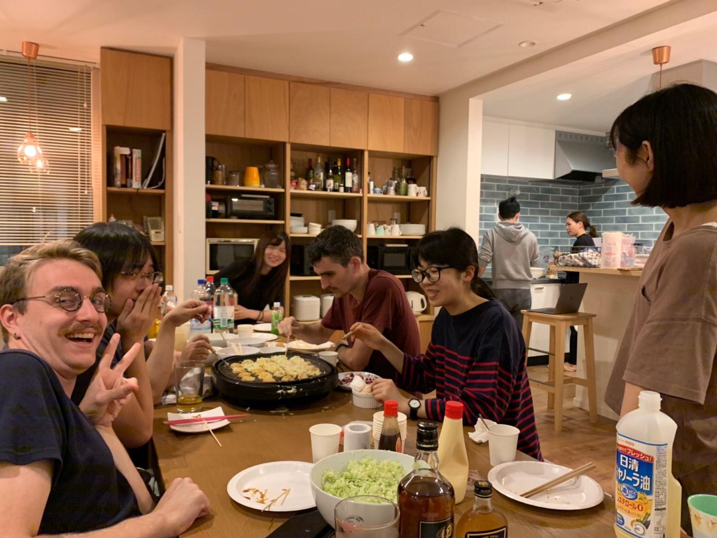 シェアハウスSEN OSAKA たこやきパーティの日