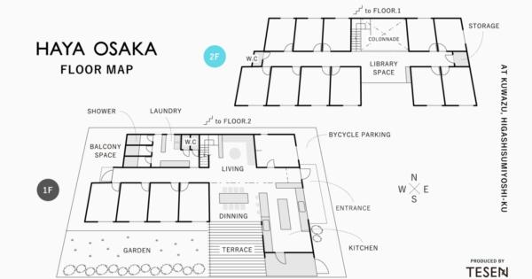 HAYA OSAKA FLOOR MAP | produced by TESEN
