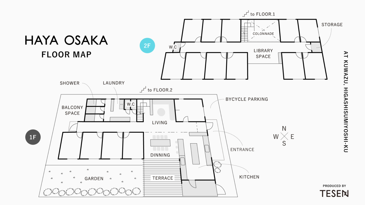HAYA OSAKA FLOOR MAP | produced by TESEN