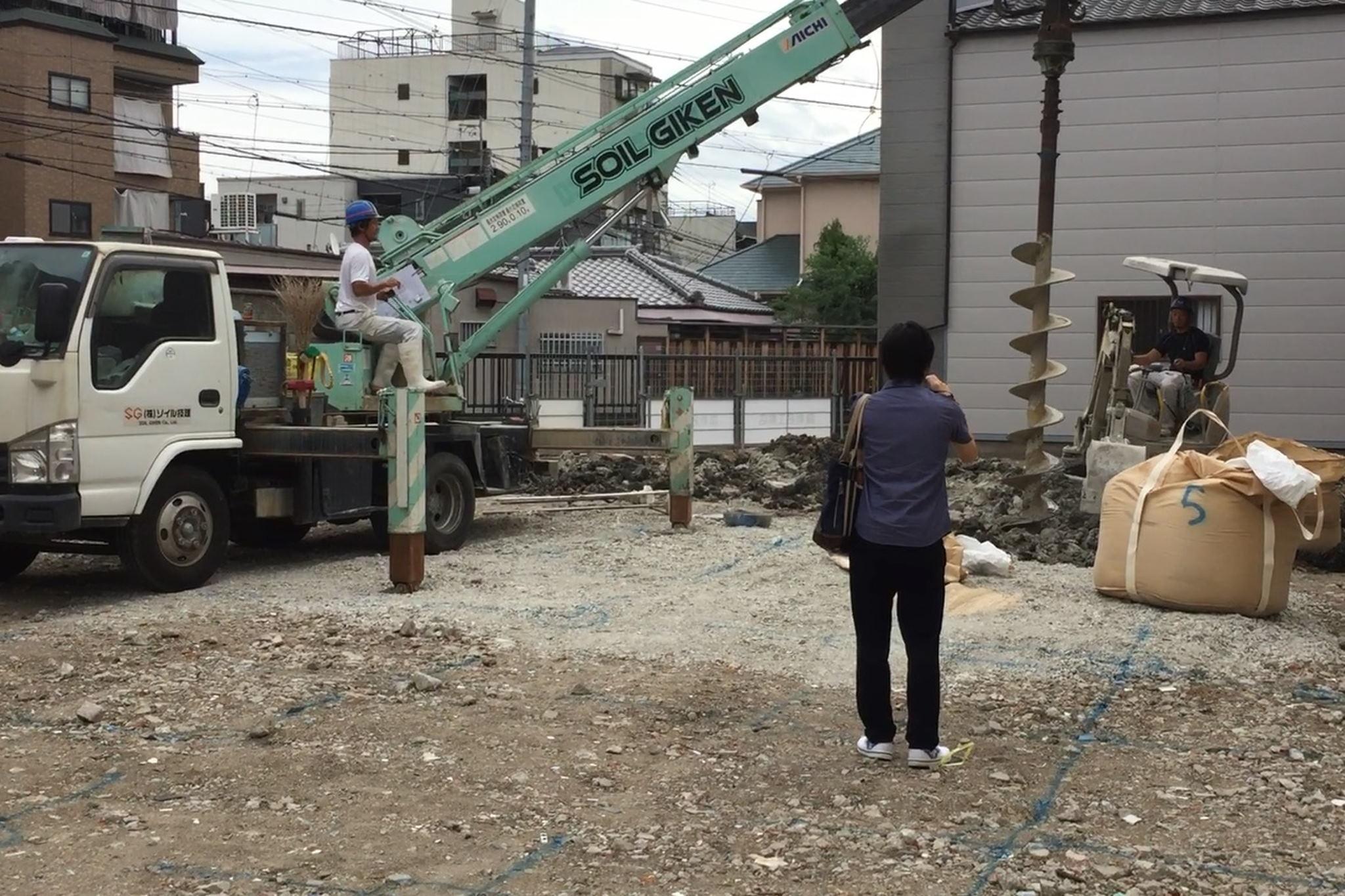 柱打って地固まる!シェアハウスSEN大阪の地盤改良工事|TESENシェアハウス&ホステル