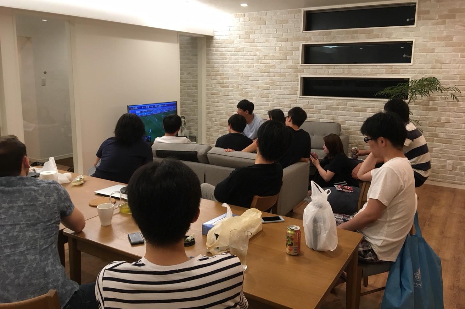 シェアハウスでワールドカップ観戦
